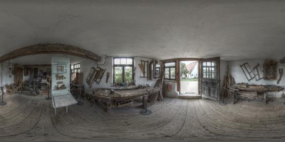 Schreinerwerkstatt im Freilichtmuseum Beuren in HDR