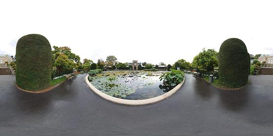 Seerosenteich in der Wilhelma - Panorama 1