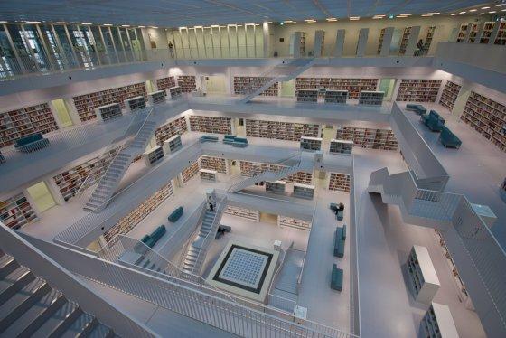 Stadtbibliothek Stuttgart Innenansicht
