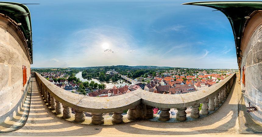 Blick vom Kirchturm der Stadtkirche St. Laurentius in Nürtingen