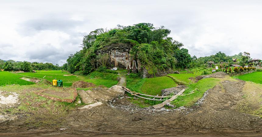 Felsengräber in Lemo, Tanah Toraja, Indonesien